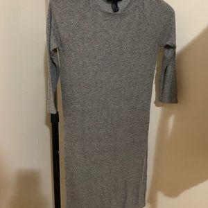 Grey forever 21 straight body dress
